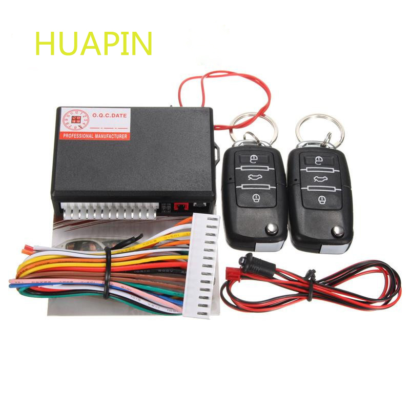 Car Alarm Systems Universal Auto Remote Central Kit Door Lock Vehicle Keyless Entry System Central Locking with Remote Control(China (Mainland))