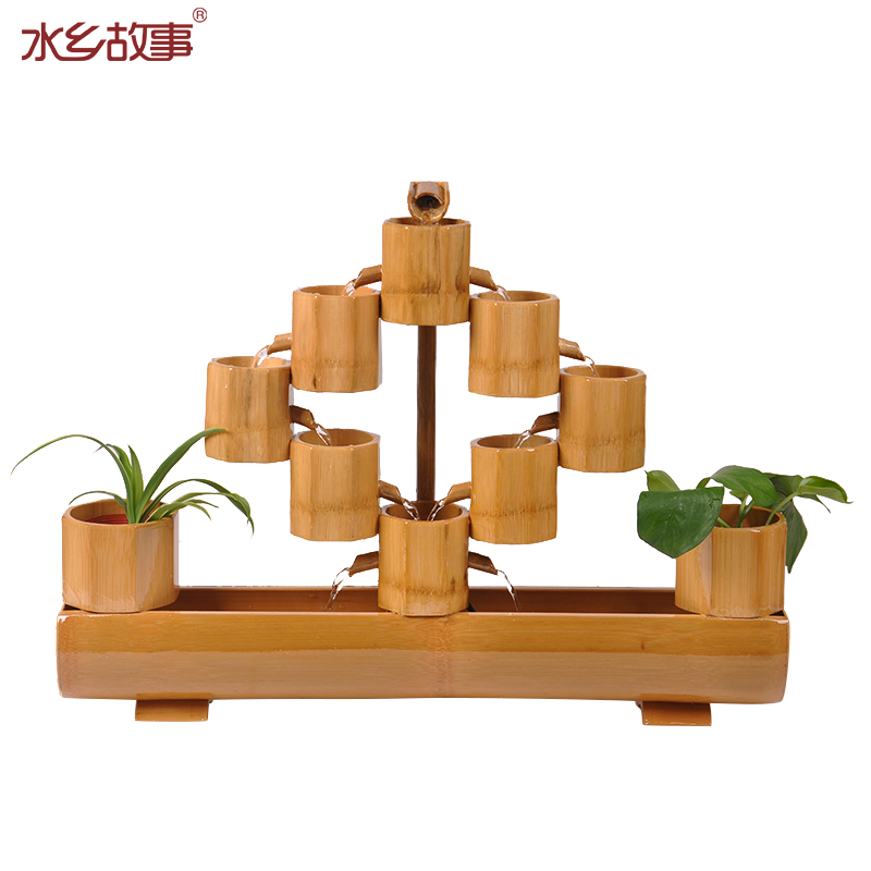 Water story living room opening gifts Lucky bamboo water fountain - Home Decor - Photo 5