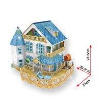 Building Blocks Vacation Home Rural Villa Light House 3D Stereo Model Boy Girls DIY Creative Blocks