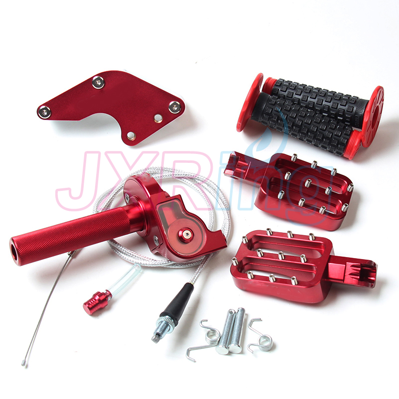 Сборка цепи красной части ручки&набор&подножки%крутить руль дроссельной ручки и крышки отверстие для ОФД КЛК ТТР 50 70 велосипед частей