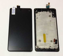 Original new LCD screen display+touch digitizer with frame For ZTE Nubia Z7 mini NX507J  black free shipping