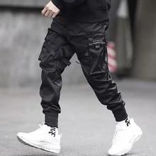 אפריל מומו 2020 גברים רב כיס הרמון היפ פופ מכנסיים מכנסיים טרנינג Streetwear Hombre זכר מזדמן אופנה מכנסיים מטען גברים