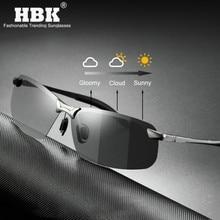 Polarized Photochromic Sunglasses Men Driving Rectangle Chameleon Chan