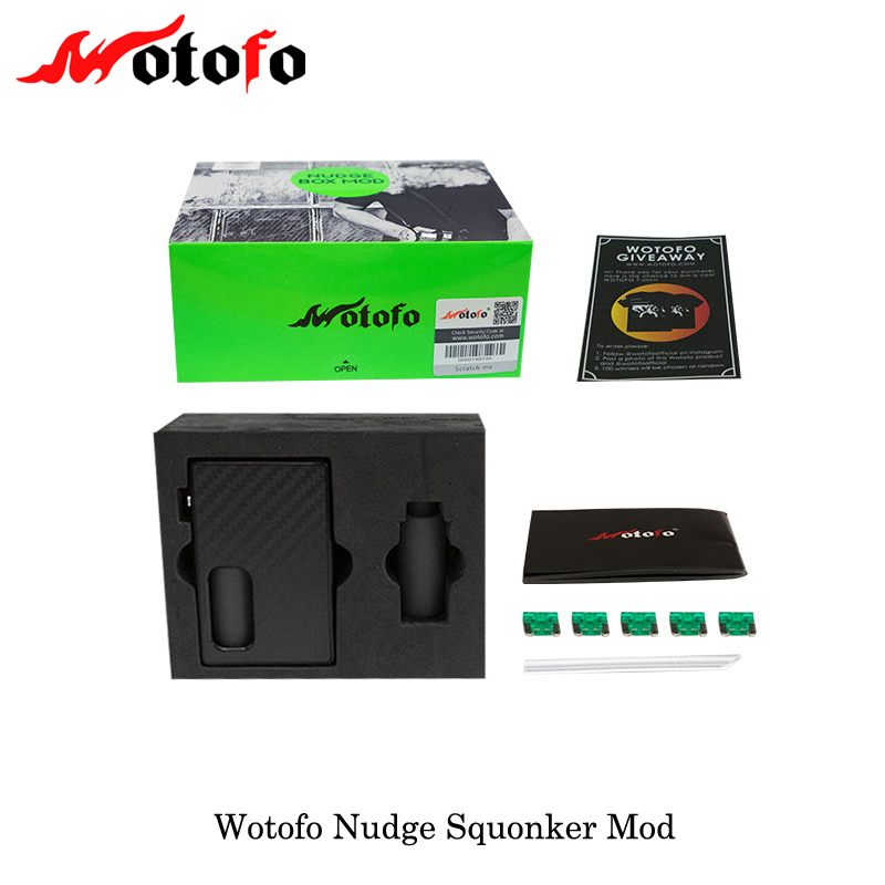 Original Wotofo NUDGE Squonk BOX MOD with 7ml bottle E Cigarette Squonk mod 510 Thread Vape Mod Power by 18650 battery Vaporizer цена