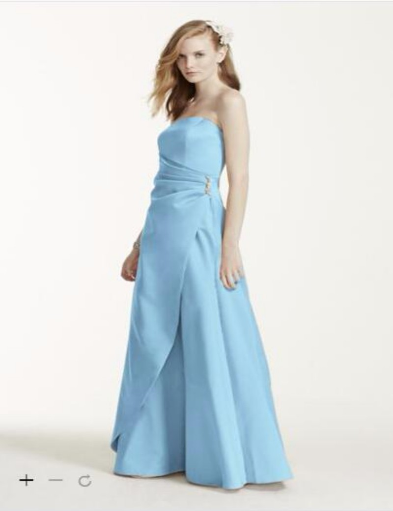 2016 long satin bridesmaid dresses strapless bodice with side 2016 long satin bridesmaid dresses strapless bodice with side drape detail and brooch adds 8567 gowns in bridesmaid dresses from weddings events on ombrellifo Choice Image