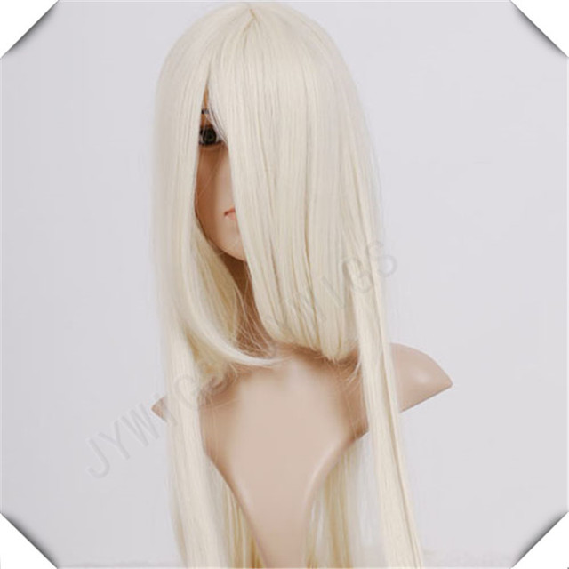 Golden Blonde Wig Anime Cosplay 100CM Synthetic Straight Wig  Party Costume Peruca Golden Blonde Wig