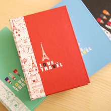 1pc Creative Fly Over London Hardcore Notebook Combination Facilitate Stickers With a Pen