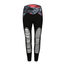 Fashion Patchwork Sexy Hollow Out Printed Women Leggings Summer Breathable Dry Quick Sporting Fitness Leggings