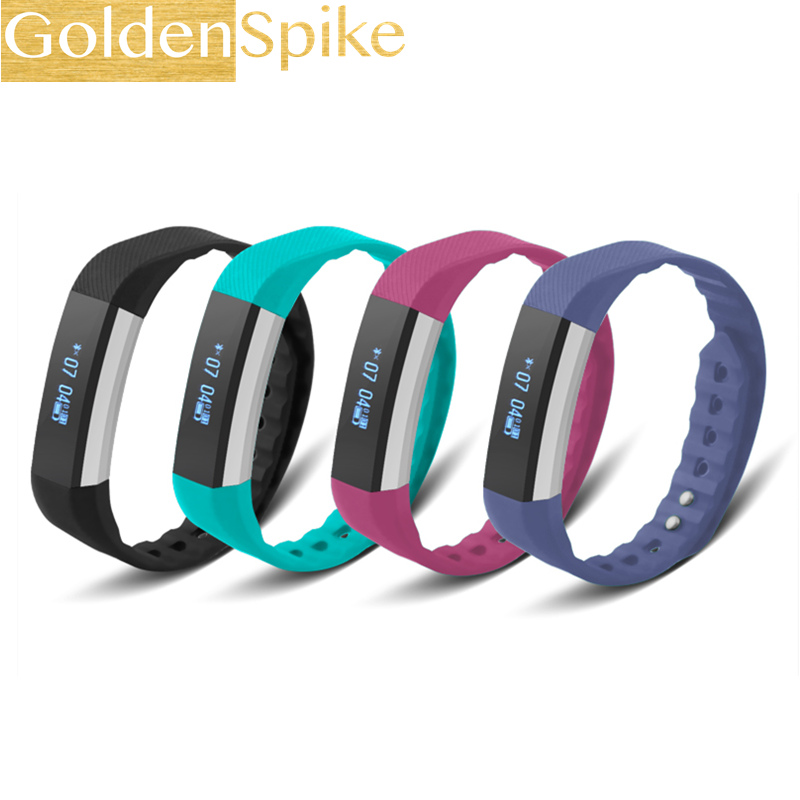 Micro K Bluetooth Smart Band Heart Rate Monitor Pedometer Call Message Remind for iOS Android Wristband