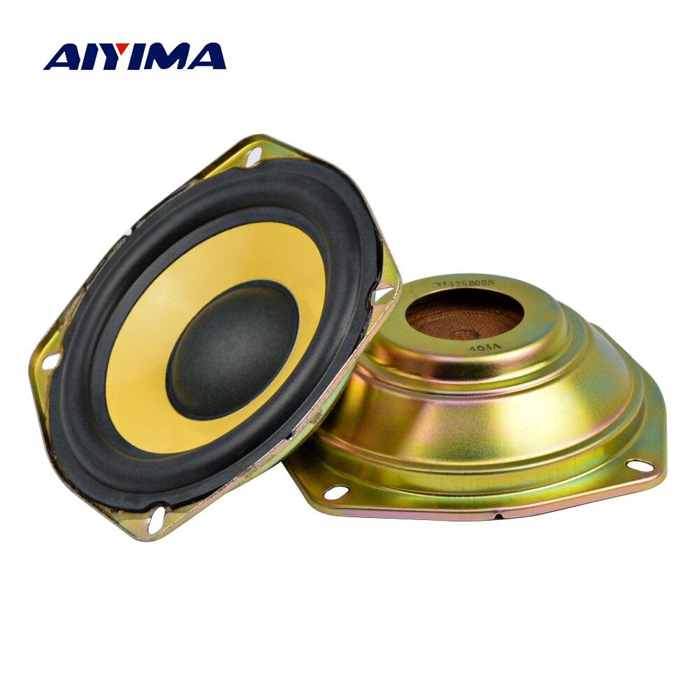 AIYIMA 2Pcs 5Inch Audio Speaker Altavoz Portatil Passive Radiator Auxiliary Bass Boost Column Speakers For Music Center