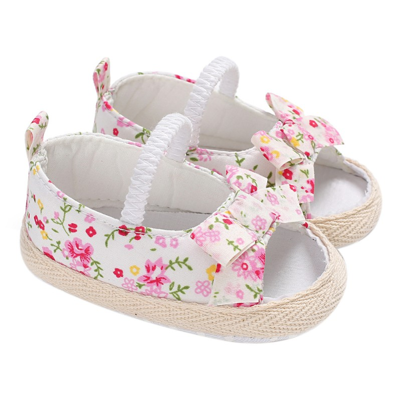Baby Girl Shoes Bowknot Newborn Infant Outdoor Princess Baby Shoes Sneaker 0-18 Month