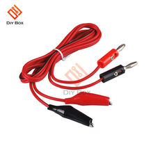 1M Alligator Cilp to AV Banana Plug Test Cable Lead Connector Dual Tester Probe Crocodile Clip for Multimeter Measure Tool DIY(China)