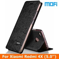 Original Mofi Brand Redmi 4x Case Flip Leather Case For Xiaomi Redmi 4X Phone Case Stand