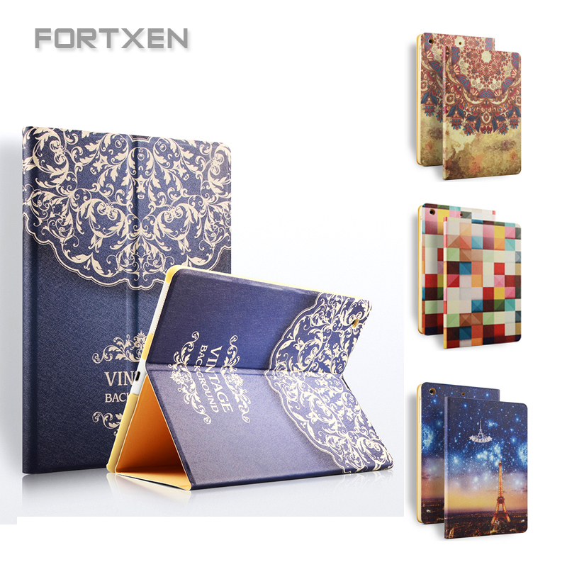 FORTXEN Case For Apple Ipad 4 3 2 Luxury Smart Cover For Ipad 2 3 4 Leather Flip Case Stand Good Quality Unique Special Style cartoon painted flower owl for kindle paperwhite 1 2 3 case flip bracket stand pu cover for amazon kindle paperwhite 1 2 3 case
