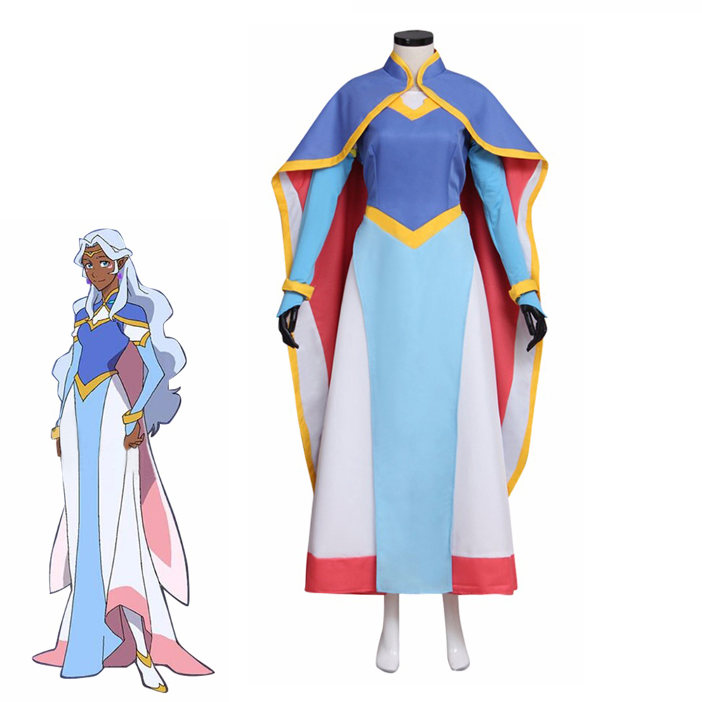 Voltron: Legendary Defender Princess Allura Cosplay Costume Women Gothic Suit Halloween Carnival Dresses Uniforms Custom Made