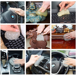Image 5 - Auto Cleaner Lijm Panel Air Vent Outlet Dashboard Laptop Thuis Magic Cleaning Tool Modder Remover Auto Kloof Dust Dirt Cleaner zachte Gel