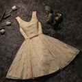 New arrival elegant cocktail  party dress lace dresses Vestido de Festa V-neck lace -up gown free shipping