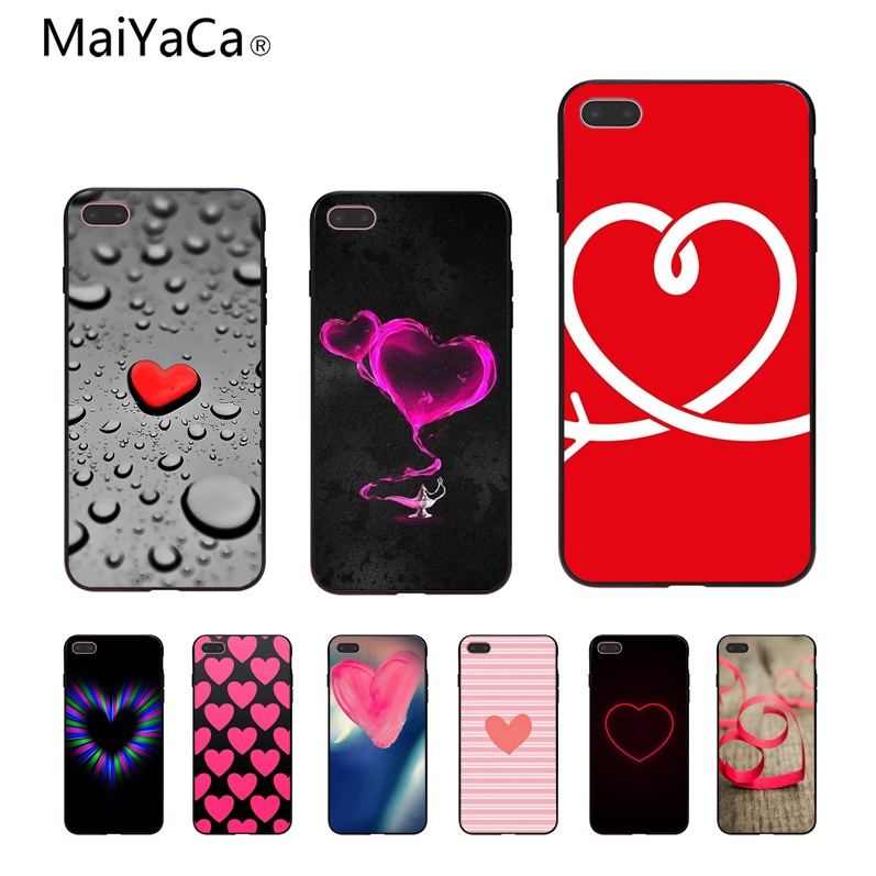 MaiYaCa small heart Coque Shell Phone Case For iphone 6 6s 6plus 6S plus 7 7plus 8 8plus 5 5s 5C Case cover