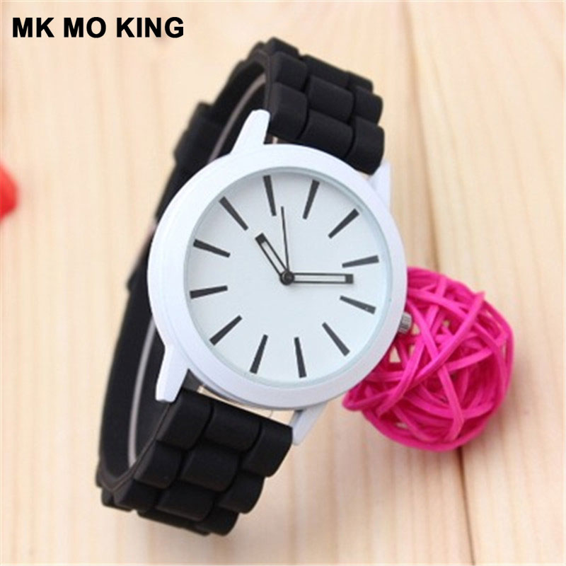 New Candy Color Silicone With Simple Hollow Pointer Men/Men's Watch Couple Watches Lover's Gifts Ladies Wrist Watch Clock Reloj