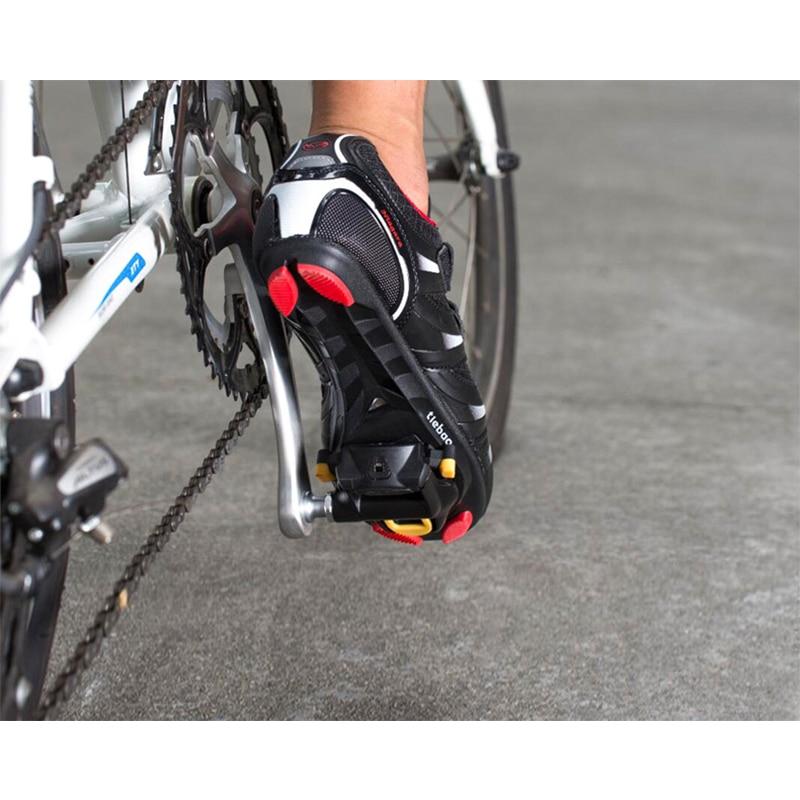 ROCKBROS Road Bike Pedals SPD-SL Cleats CR-MO Black