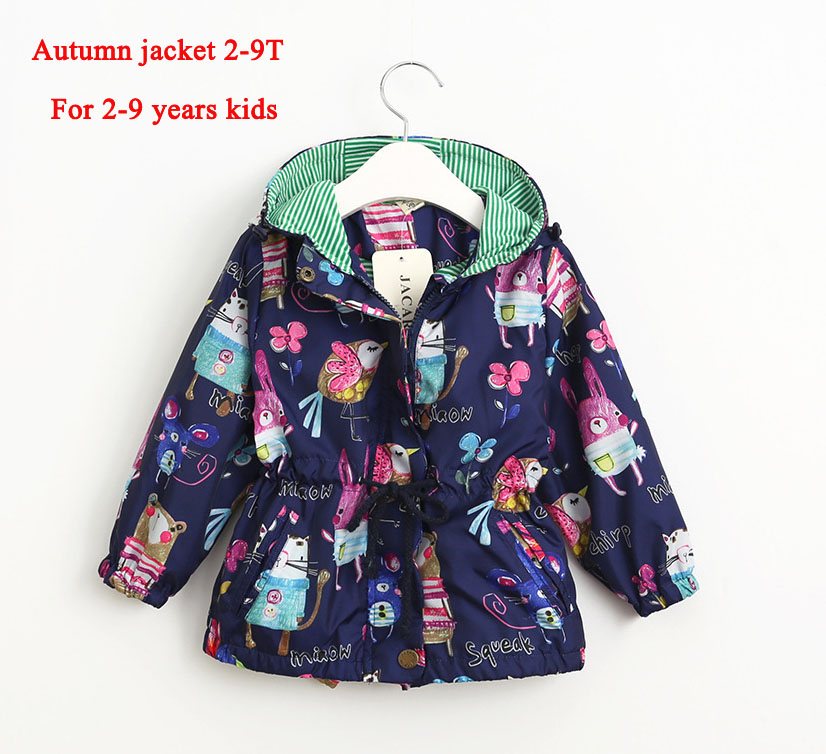 fashion Graffiti girl fleece jacket casual baby hooded outerwear girls coat winter kids clothing children jackets