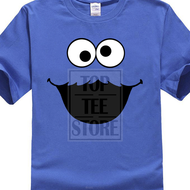 929b73ad Refreshing Summer Fashion Sesame Street Cookie Monster T Shirt Elmo Early  Bird Grover Ernie Oscar 2017 Newest Funny Tops
