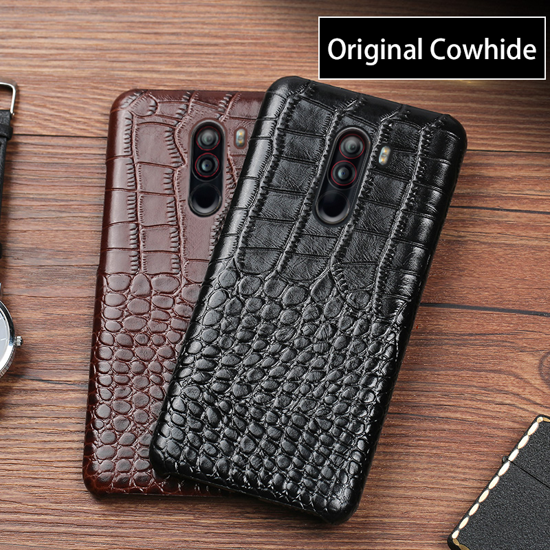 Phone Case For Xiaomi Pocophone F1 Redmi Note 4 4A 4X 5A 5 Plus 6 Pro Mi 8 A1 A2 Lite Max 2 3 Mix 2S Crocodile Texture cover