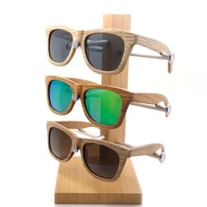 Image 5 - בובו ציפור עץ משקפי שמש מותג מעצב חום עץ משקפי שמש סגנון כיכר משקפי שמש Masculino Dropshipping OEM