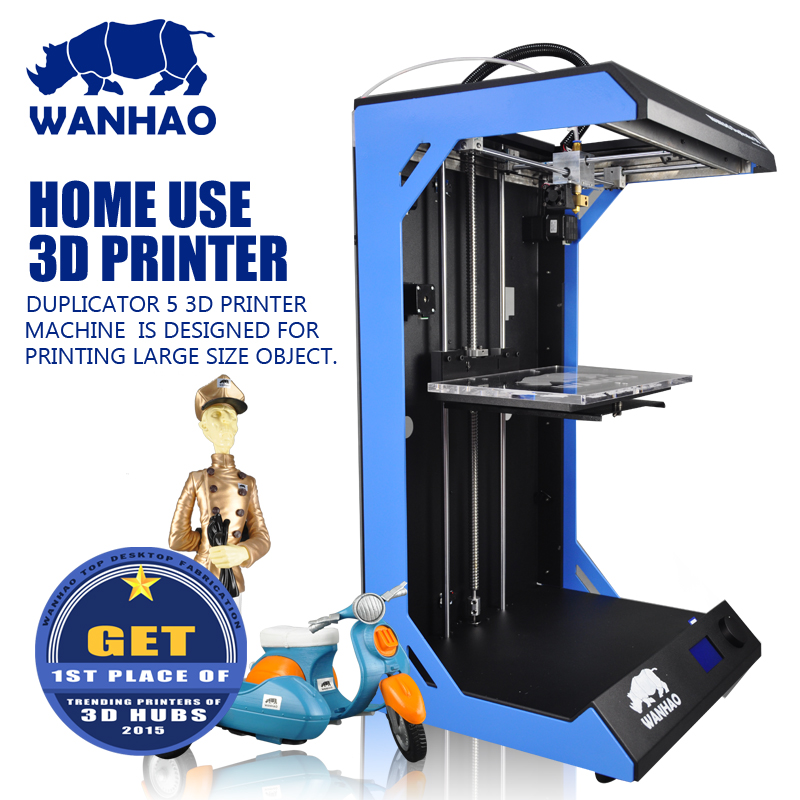 Big Build Size 3D Printer Wanhao D5S, high precision DIY kit with big printing size,add heating plate for ABS, cheap price high precision wanhao i3 printer with mk10 extruder for 1 75mm pla and abs filaments
