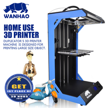 Big Build Size 3D Printer Wanhao D5S, high precision DIY kit with big printing size,add heating plate for ABS, cheap price