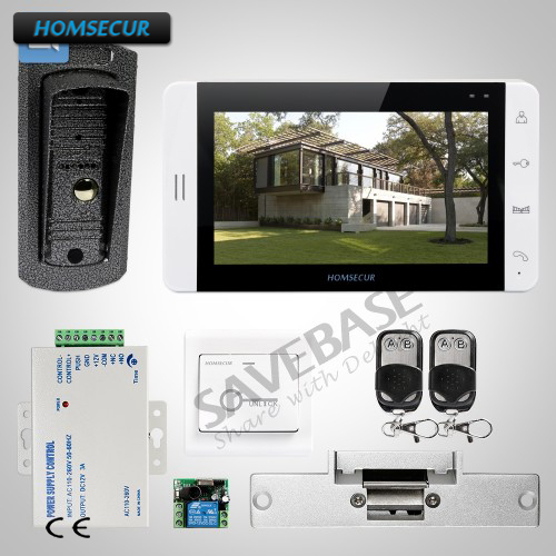HOMSECUR 7 Security Wired Video&Audio Intercom System + Touch Button Monitor 1C1MHOMSECUR 7 Security Wired Video&Audio Intercom System + Touch Button Monitor 1C1M