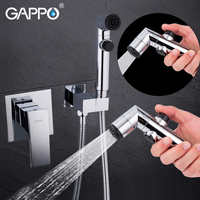 GAPPO Bidet Faucets Handheld Shower Washer Tap Mixer Muslim Toilet Spray Wall Mounted Ducha Higienica Portable Bidet