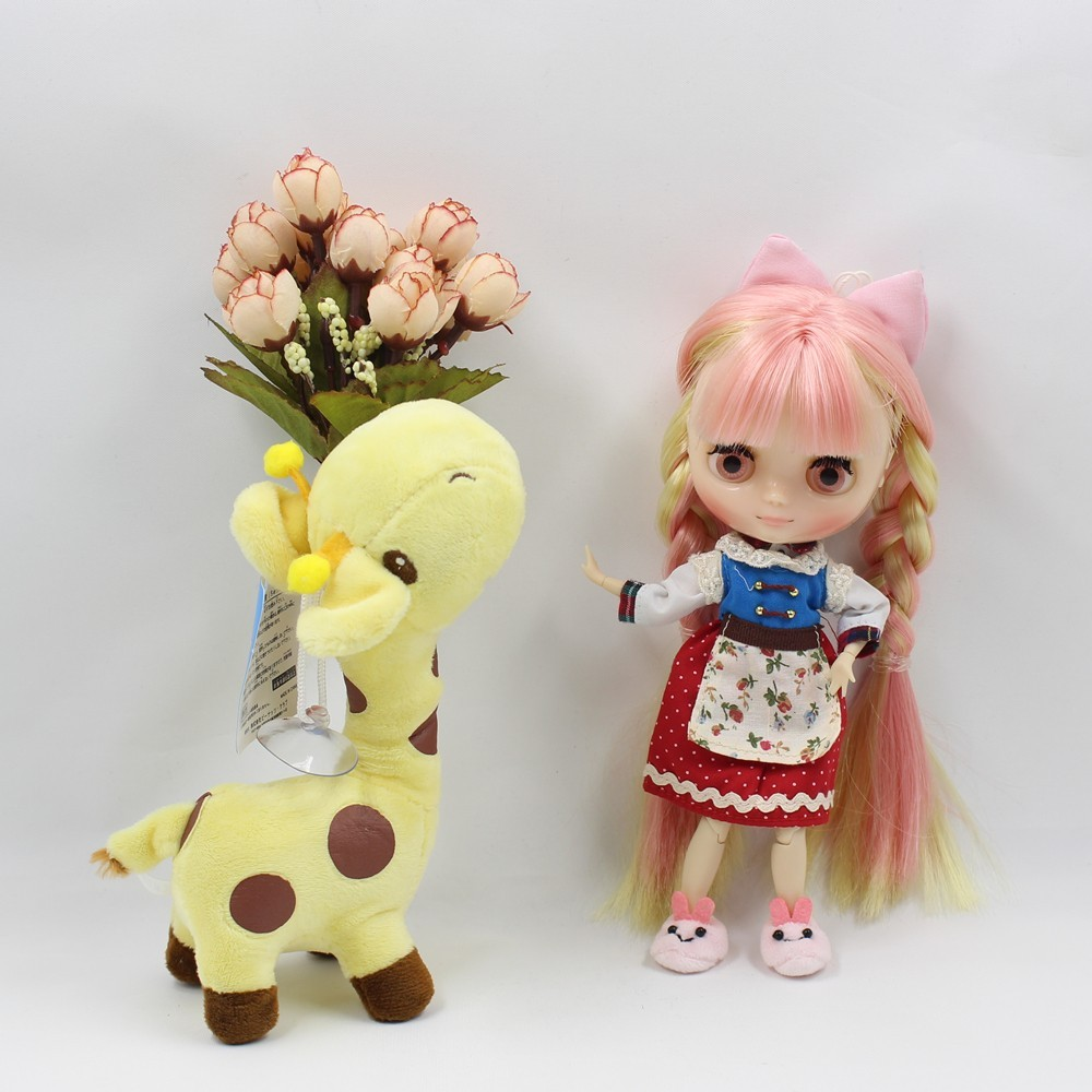 ICY Middie Doll Yellow Pink Hair Jointed Body 20cm 2