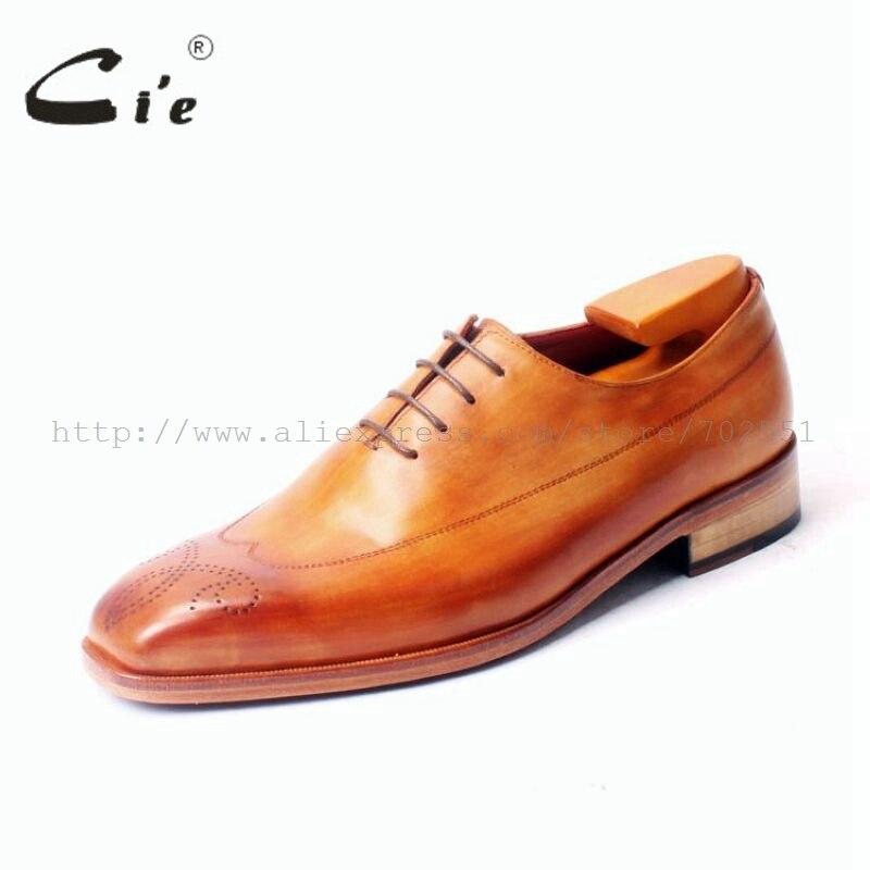 Ayakk.'ten Resmi Ayakkabılar'de Cie Ücretsiz Kargo Ismarlama El Yapımı Özel Mackay Patina dantel up Hakiki Buzağı Deri erkek ayakkabı Elbise Oxford Kahverengi ayakkabı No. OX338'da  Grup 2