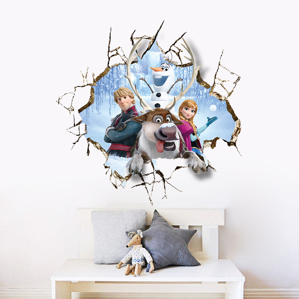 aliexpress com buy 3d movie wall stickers children room painting aliexpress com buy 3d movie wall stickers children room painting murals pvc stickers diy wall decal poster girls gift from reliable wall sticker children