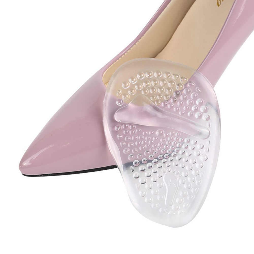 1 คู่ส้นสูง Cushions เท้า Forefoot Anti-Slip Insole Breathable รองเท้านุ่ม Insoles
