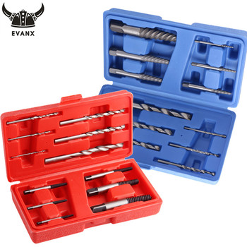 EVANX 12pcs Screw Extractor Set Easy Out Drill Bits Remover Set Broken Damaged Nut Screw Extractor Drill Bit Hand Tool screw extractor