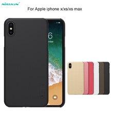 Için iPhone XS/XR/XS MAX Durumda NILLKIN Süper Buzlu Kalkanı sert arka kapak kılıf Apple iPhone Için X /7/8 artı + ekran koruyuc...