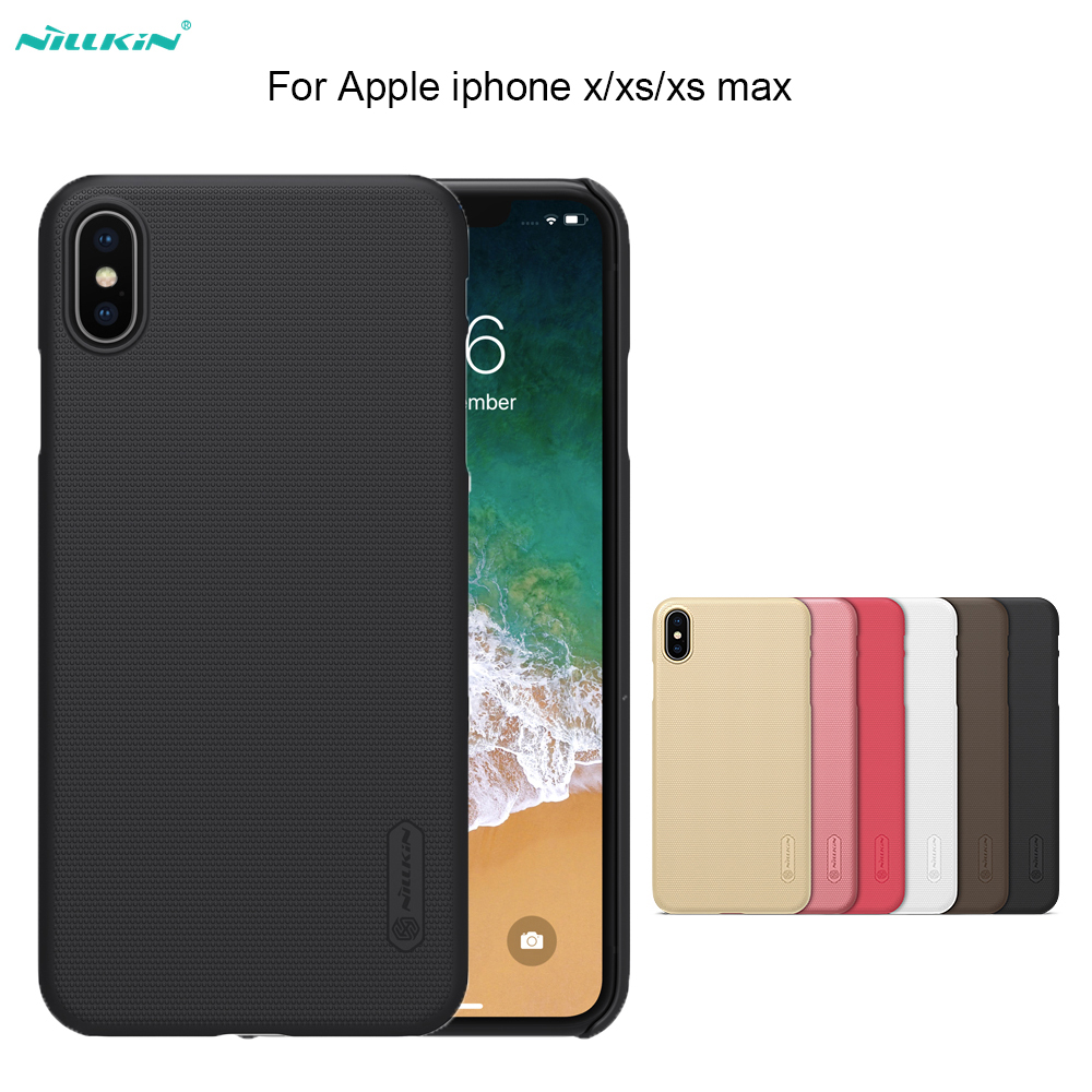 Para iphone xs/xr/iphone 11 pro max caso nillkin super fosco escudo capa dura de volta caso para apple iphone x/7/8 mais telefone