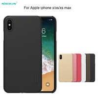 Pour iPhone XS/XR/iPhone 11 Pro Max étui NILLKIN Super givré bouclier dur étui arrière pour Apple iPhone X/7/8 plus téléphone