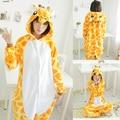 Животных косплей костюм жираф Onesie пижамы для взрослых хэллоуин карнавальные ну вечеринку одежда