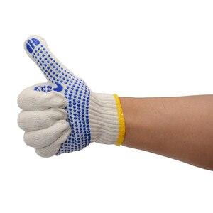 Image 5 - Labor 700 grams of plastic yarn gloves point glue glove cotton antiskid point bead gloves