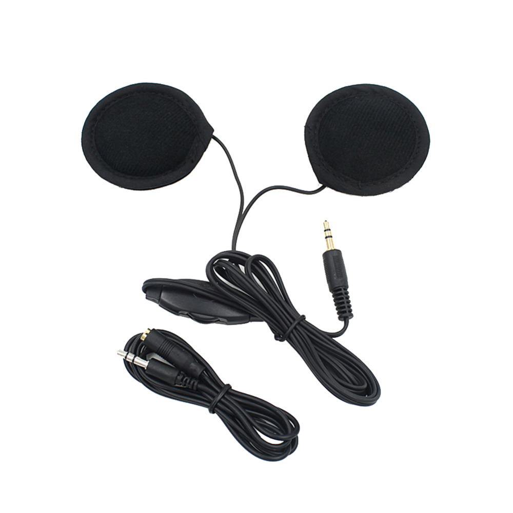 New 3.5mm Motorbike Motorcycle Helmet Earphone Headset Stereo Speakers with Cable Extension For MP3 Music Device GPS Cell Phones 1000m motorcycle helmet intercom bt s2 waterproof for wired wireless helmet