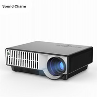 Full HD Projector 1280*800 With Remote Control Projector For Video Games Support HDMI AV home theater beamer free shipping