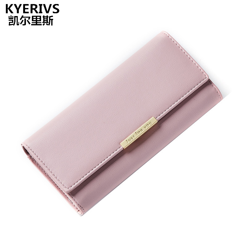 KYERIVS Women Clutch New Female Wallets Pu Leather Wallet Women Ladies Zipper Luxury Brand Coin Purse