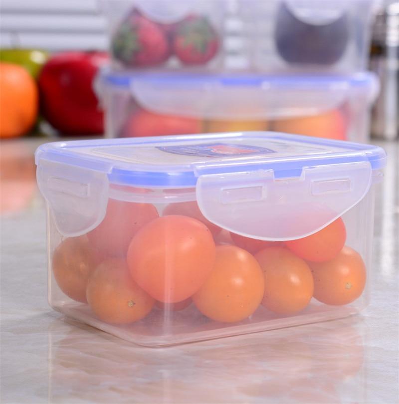 1PCS Kitchen PP Storage Box Preservation Box Microwave Refrigerator Organizer Plastics Food Container 9 Size C