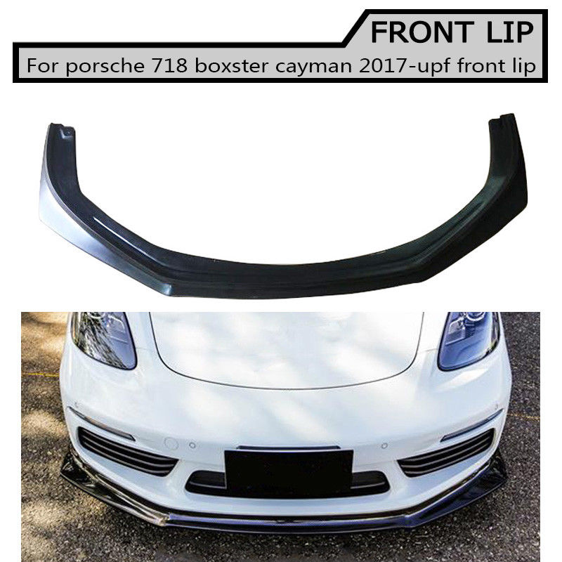 carbon fiber Front Lip Spoiler for porsche <font><b>718</b></font> cayman <font><b>boxster</b></font> 2017-up image