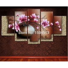Peach blossom diy diamond painting triptych home decorative painting resin square drill rhinestone unfinished painting Flower