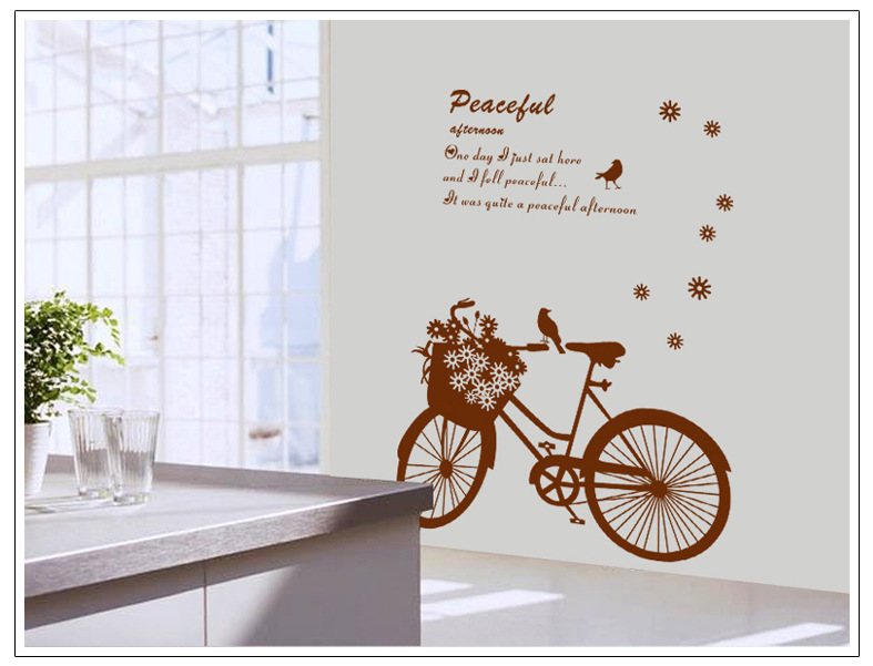 Adhesive Wall Art flower car child home decoration removable vinyl wall art sticker