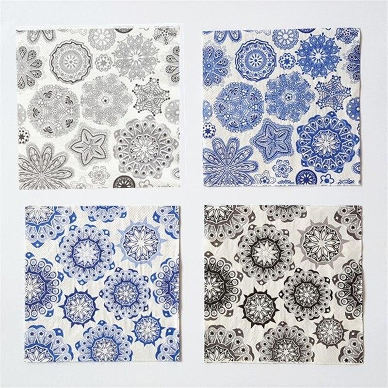 Vintage servilleta decoupage servilletas servilletas de papel del banquete de bo